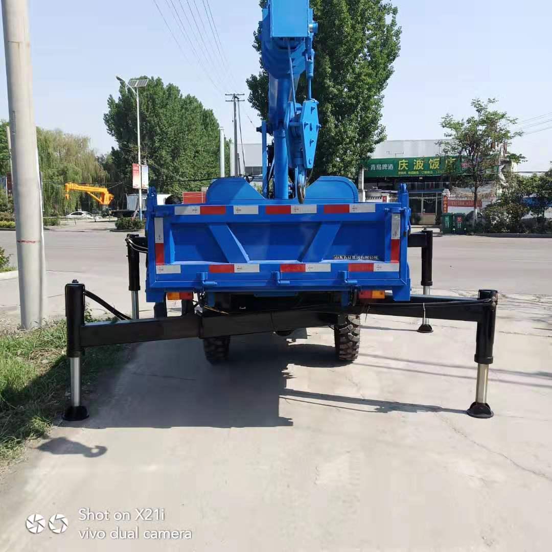 云南新款园林专用小型3吨三轮随车吊