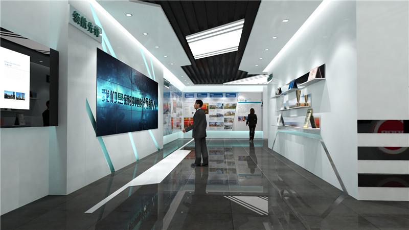启东企业展厅设计效果图「南通华凯展览展示供应」
