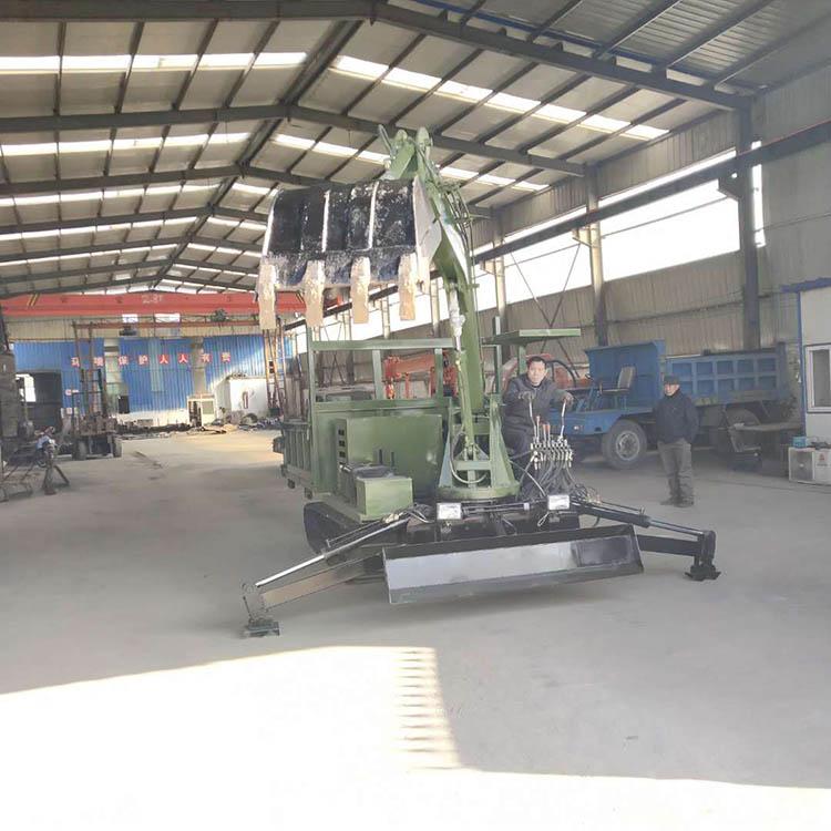 贵州山区运木头履带抓木机载重量大 济宁久征工程机械供应