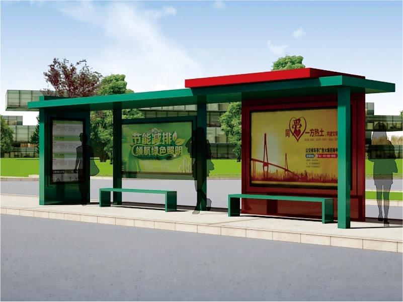 湖北智能公交车站牌设计,公交车站牌
