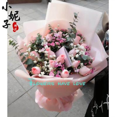 黄山小妮子表白花束鲜花配送送花 创造辉煌 湖北柳氏商贸供应