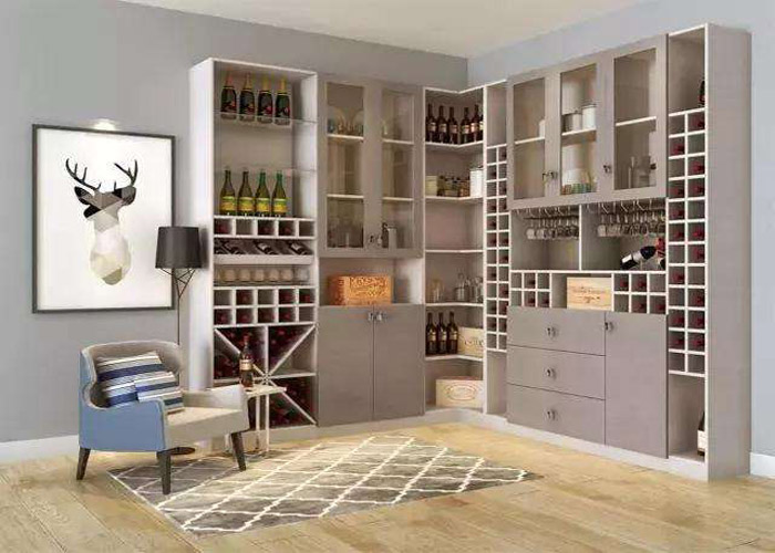 现代风格酒柜定做,酒柜