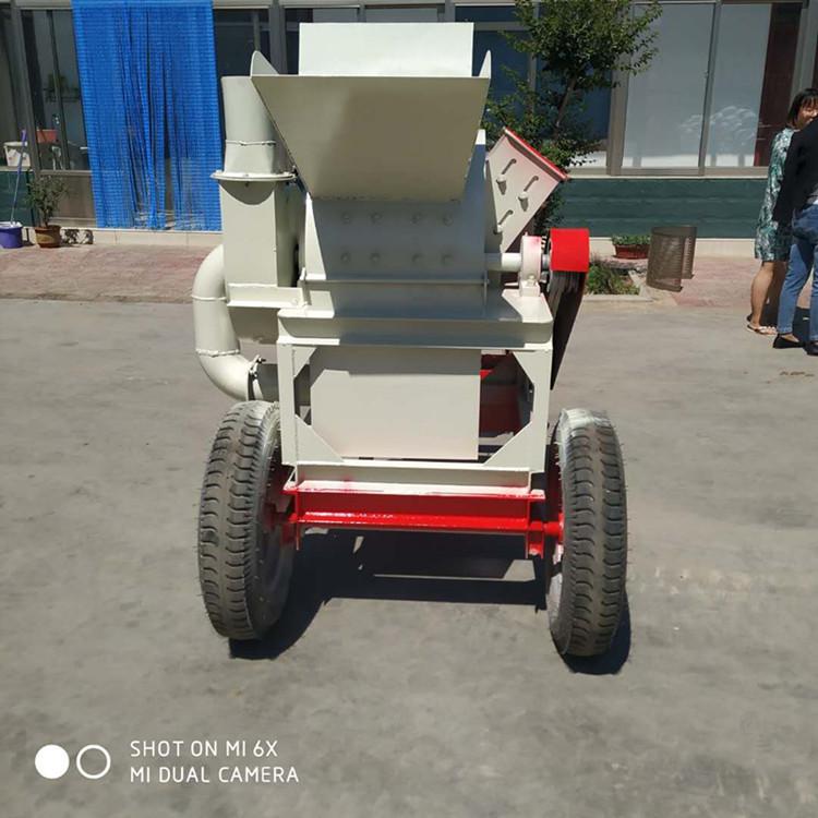 湖北家具厂下脚料粉碎机移动式刨花木屑,粉碎机