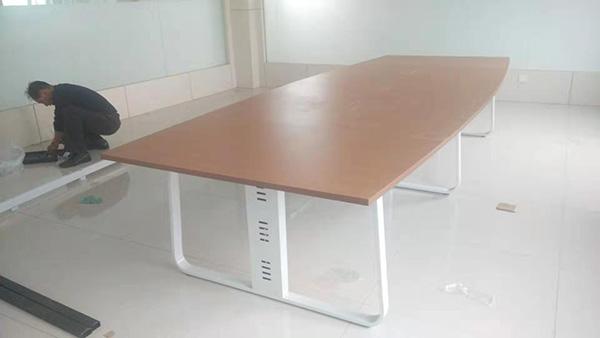 青岛椭圆会议桌厂家「林成家具供应」