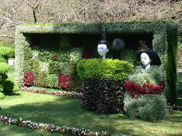 石家庄绿化带植物绿雕植物墙,植物绿雕