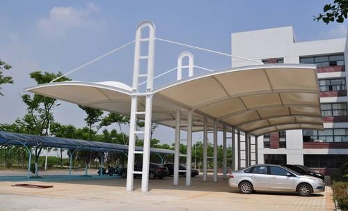九江膜结构停车棚多少钱,车棚