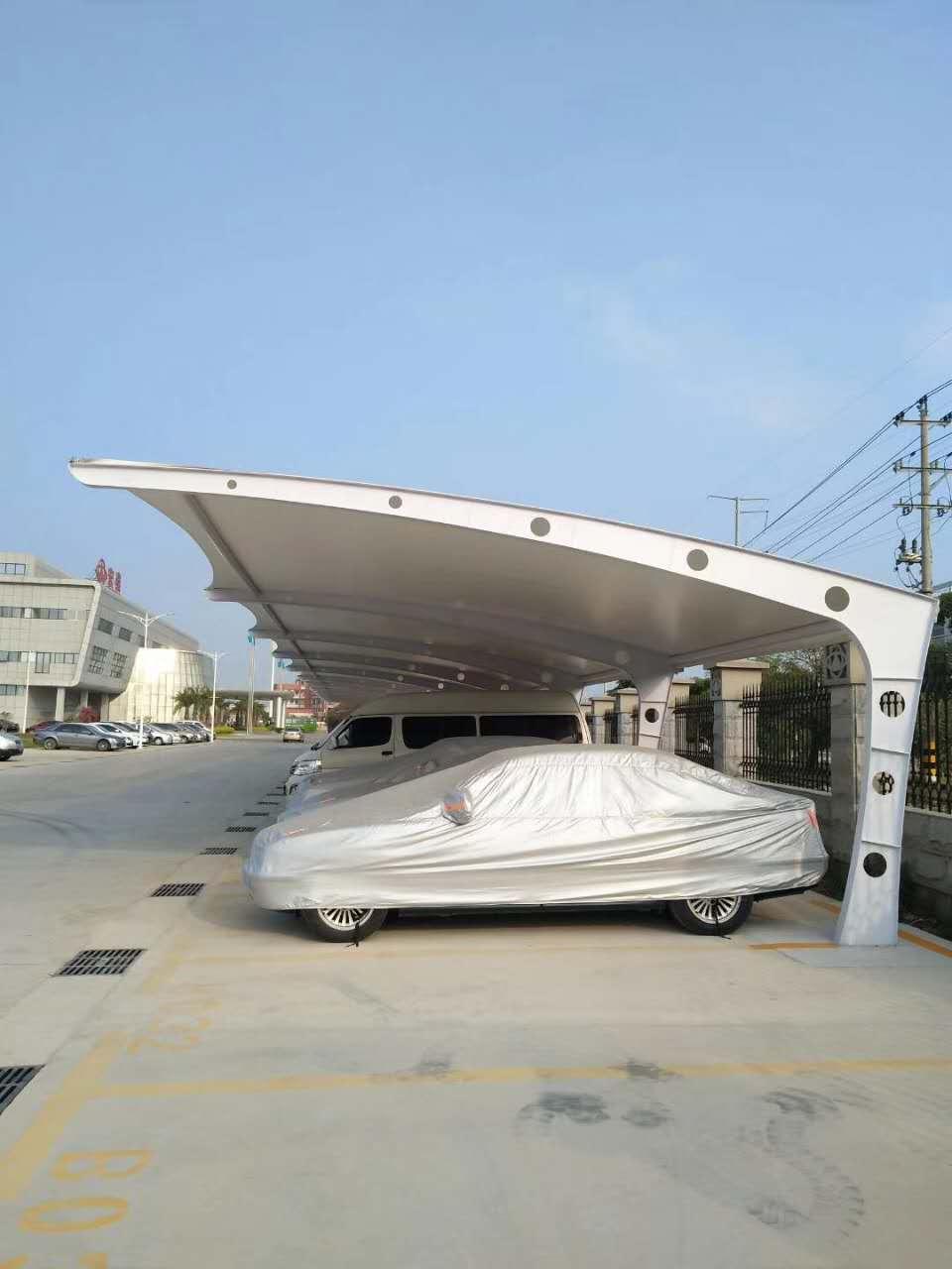 鷹潭膜結構汽車停車棚設計安裝 廈門吉士源金屬制品供應