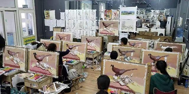 潘南小学附近高考速写工作室 淄博新动力画室服务