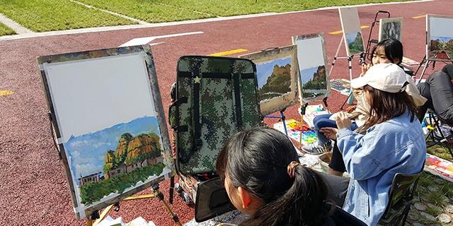 張店七中附近哪有帶文化課的畫室 淄博新動力畫室服務
