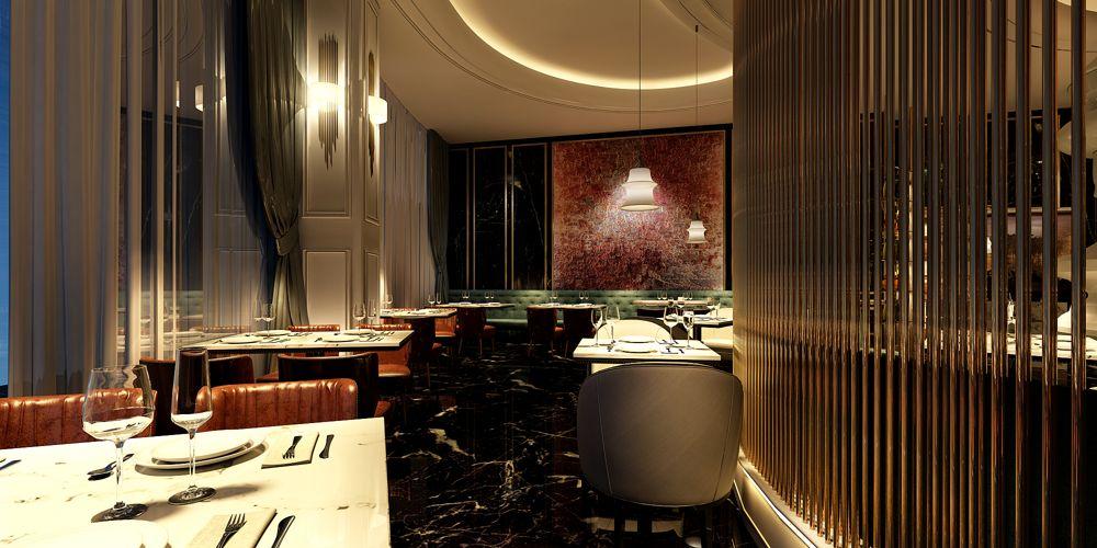 江苏口碑好西餐厅设计价格 上海七原空间设计供应