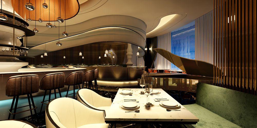 上海口碑好西餐厅设计哪家好 上海七原空间设计供应