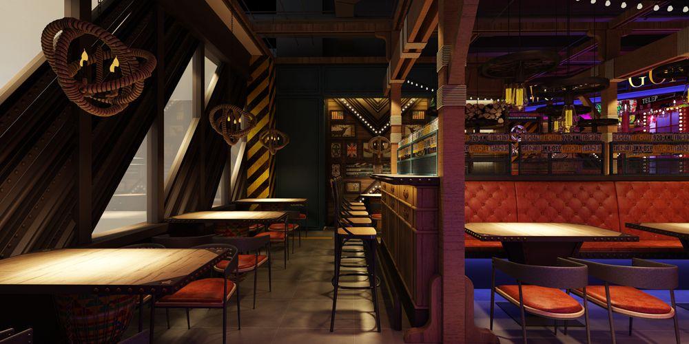 上海口碑好餐厅设计免费咨询 上海七原空间设计供应