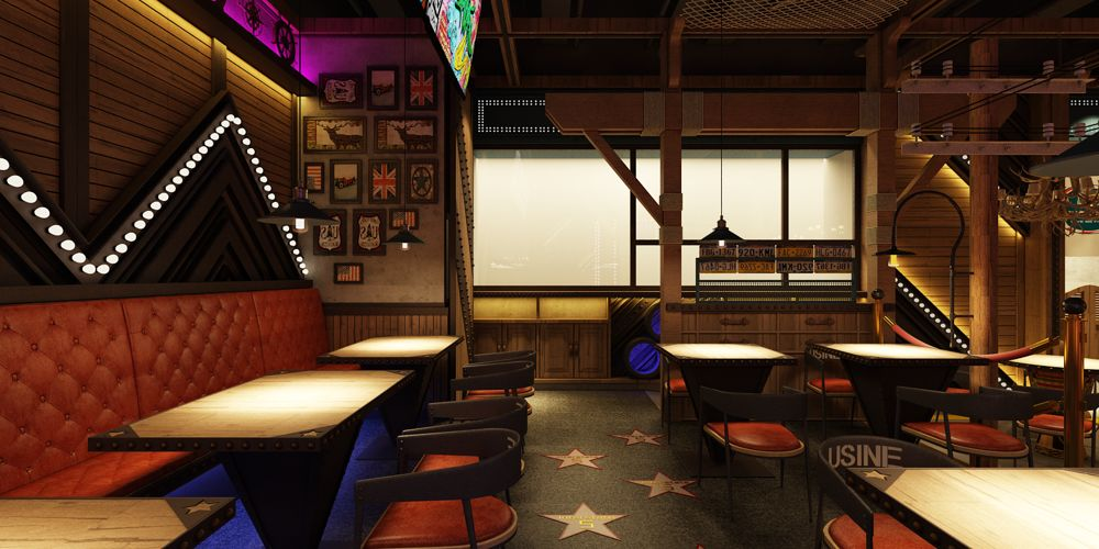 山东优秀餐厅设计方案 上海七原空间设计供应