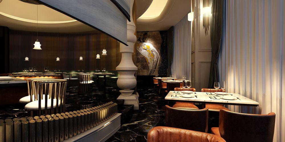 浙江知名餐厅设计免费咨询 上海七原空间设计供应