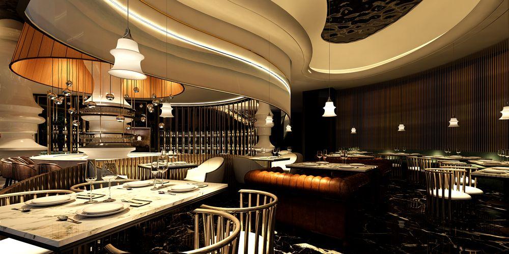 上海品质好餐厅设计信赖推荐 上海七原空间设计供应