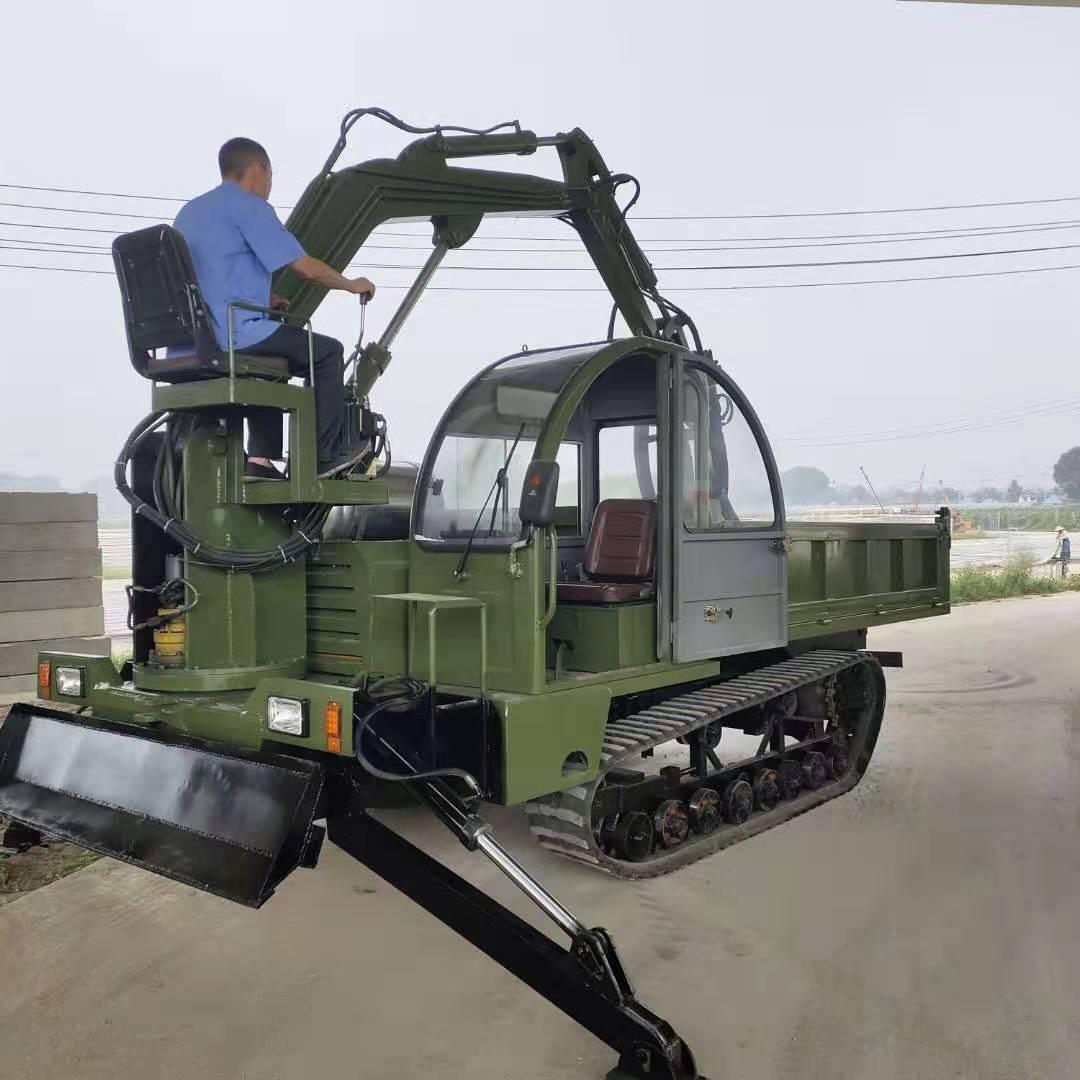 湖南改装山区爬坡王5吨履带随车挖多少钱