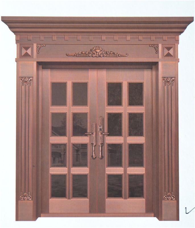 肥西玻璃铜门厂家,玻璃铜门
