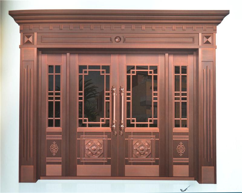 简约玻璃铜门报价,玻璃铜门