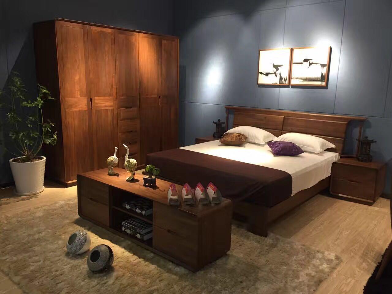 正规胡桃木质床,胡桃木质床