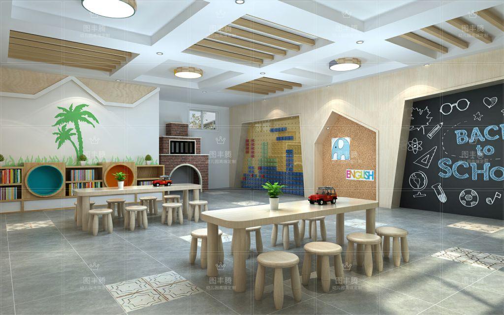 高端幼儿园装饰图丰腾装饰有限公司成立于2010年,是一家专业从事幼儿园、儿童活动场馆等机构的 设计、装修、施工为一体的专业公司。具备高品质的设计理念、标准化的设计管理制度、环保安全的幼儿装修材料库,以及活力、专业、高素质的 设计团队和负责、认真、精益求精的施工团队,为幼儿教育环境提供专业化的设计与装修。我们是一支高度团结的队伍,是一个温暖的大家庭,擅长创造包括现代简约风格、简欧风格、绿色生态风格、中式风格等多种风格的幼儿空间,为孩子们打造理想愉悦的成长环境。迄今为止,我们已成立了九年,获得社会教育行业投