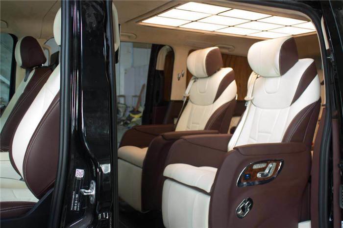 新威霆內飾拼色改裝案例「蘇州正邦房車內飾供應」圖片