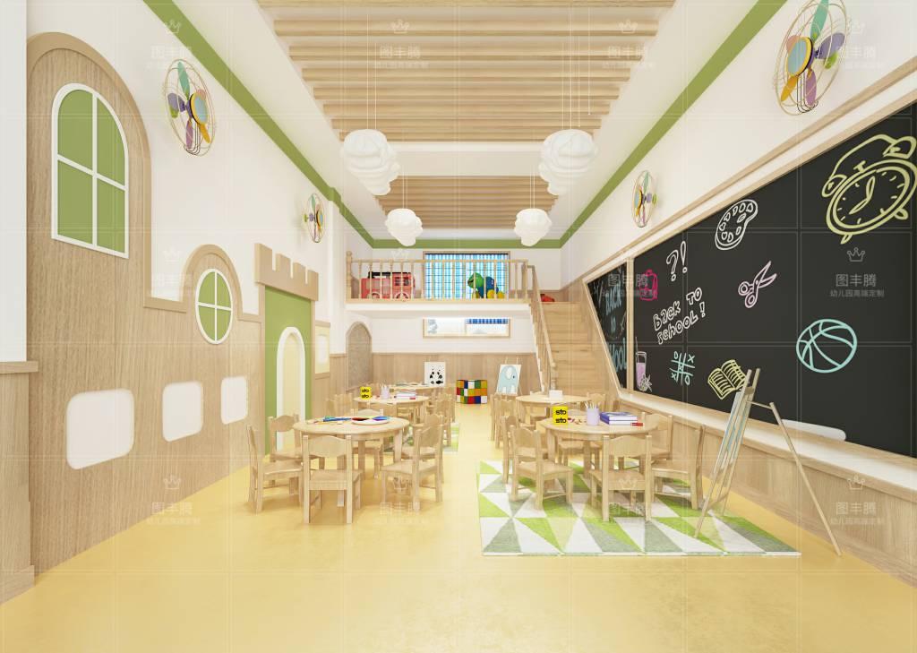 幼儿园设计是为孩子创造的空间,它不能从成人角度去挑选装修风格,而是图片