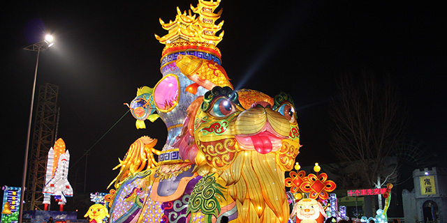 东营大型花灯多少钱「淄博灯邦文化传播供应」