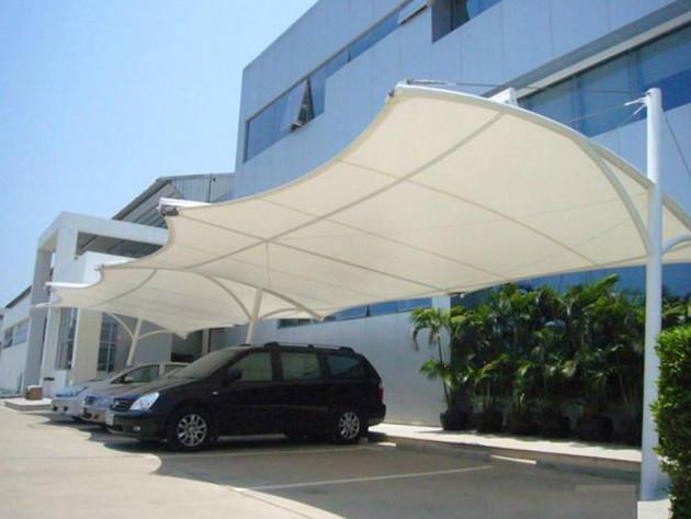 苏州膜结构景观车棚,膜结构