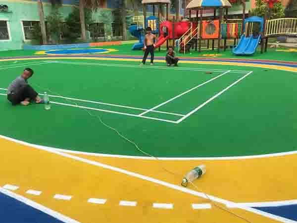 福建自結紋塑膠跑道 福建健業體育設施工程供應
