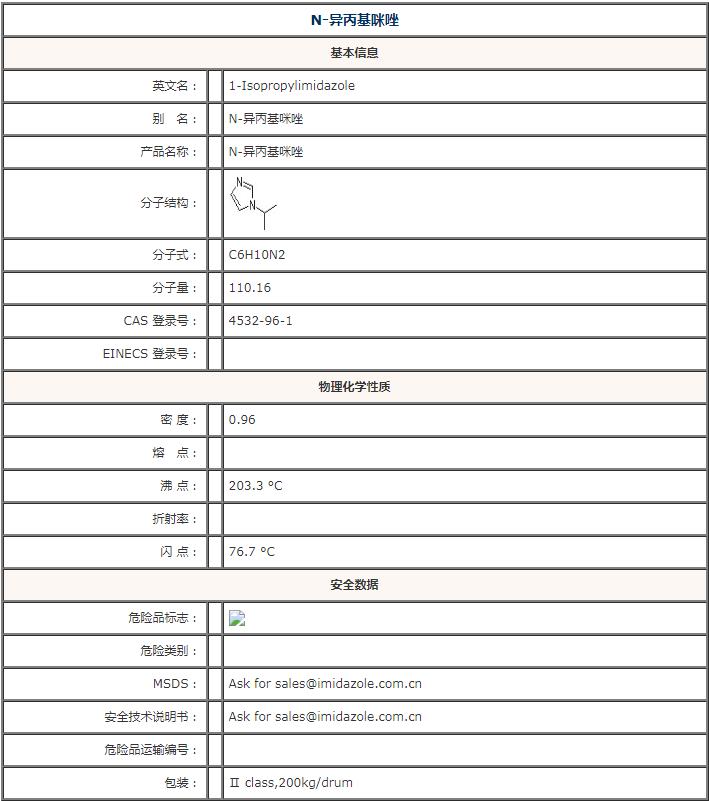 陕西N-异丙基咪唑公司「南通苏琰化工新材料供应」