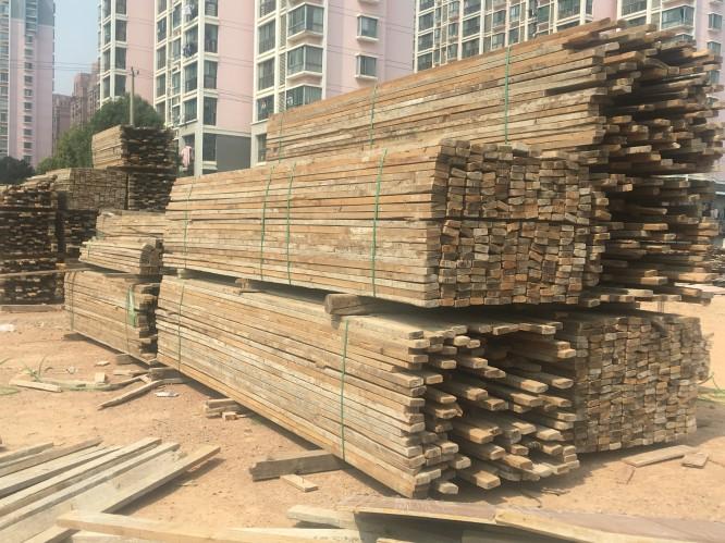 常州工地二手方木加工,二手方木