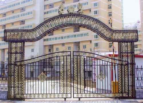 喀什铝艺大门护栏图片,护栏