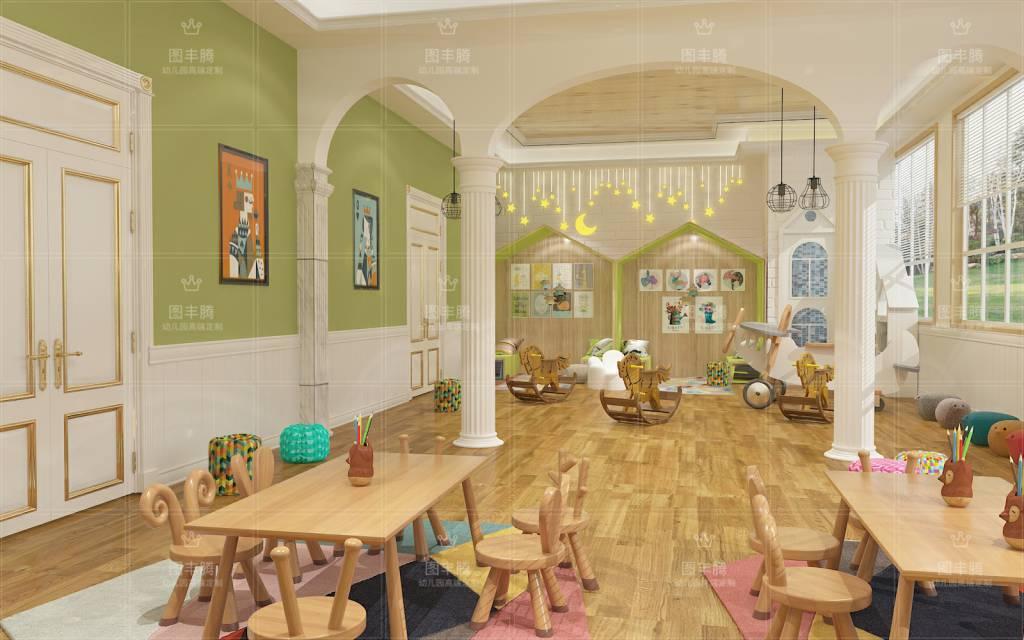 鶴崗專業幼兒園室內外裝修服務介紹