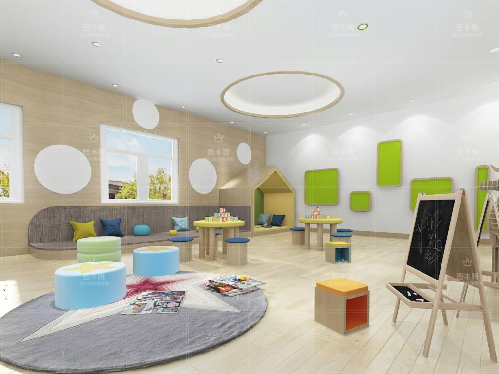 家装幼儿园室内外装修幼儿园装修设计,只有风格比较是适合好的!与方案设计公司专业图片