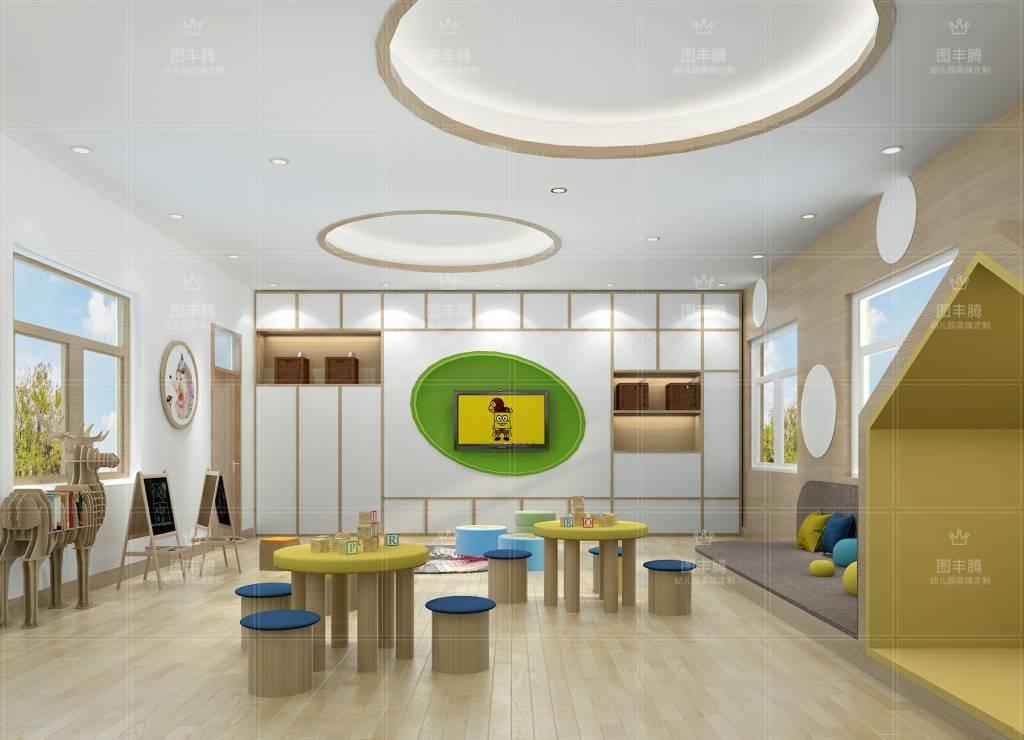 幼儿园装修风格1,简欧风格: 幼儿园如果采用欧式装修,一定是那种简欧