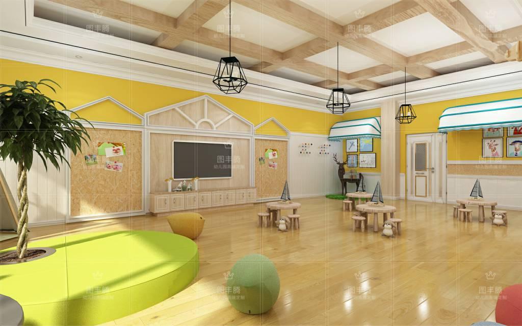 成人角度去挑选装修风格,而是撇开风格约束,从孩子河北幼儿园室内装饰图片