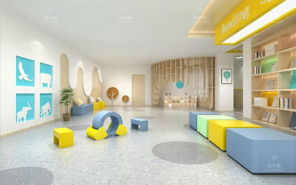 幼儿园室内装饰幼儿园装修设计,风格只有适合才是比较好的!幼儿园设计本来就是随着园区因素风格变幻不同,在设计的时候,不仅要考虑园所的预算和面积,最重要的是还要考虑到幼儿,幼儿园的服务对象就是幼儿,幼儿的成长离不开良好的环境,所以,在为幼儿园装修设计的时候,应当遵循相应的原则问题来进行装修。现如今,我国幼儿园装修的现状不容乐观,不仅在设计上显得老气,而且在一些幼儿设备上也没有一定的细节体现,而且很多幼儿园虽然都是具有色彩性的,但是都是杂乱无章的,所以,在幼儿园设计装修这样大的工程上一定要注意相关的原则性问题