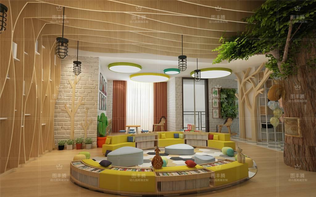 在幼儿园室内设计上有这属于自己的独特风格.网络版式中的广告v风格图片