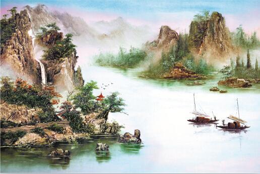 淄博学校高清壁画