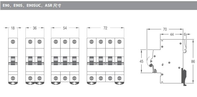 上海全新AEG微型断路器代理品牌,AEG微型断路器