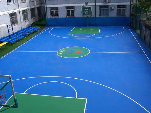 南通塑胶篮球场厂,塑胶篮球场