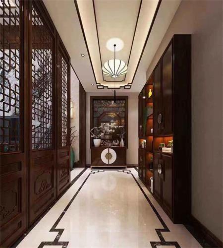 口碑新中式别墅装修「河南传世金阁装饰工程」鹤壁的吴江别墅装修好图片