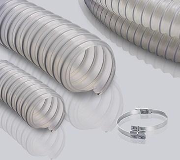 0.9mm壁厚PU钢丝软管-昆山富佰德供食品级聚醚软管