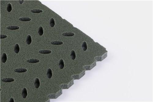 厦门双孔柳叶牙弹性减震垫层生产厂家「福建万聚福体育科技供应」