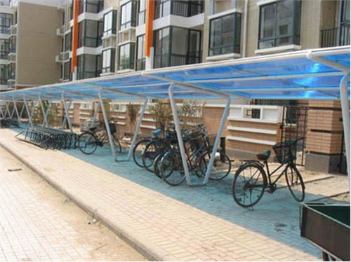 苏州专用自行车棚制造,自行车棚