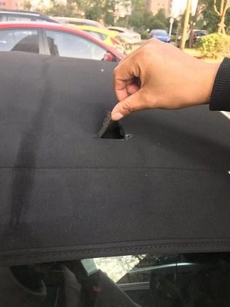 陜西修補敞篷車軟頂篷布破洞方法 創新服務「翰繡供」