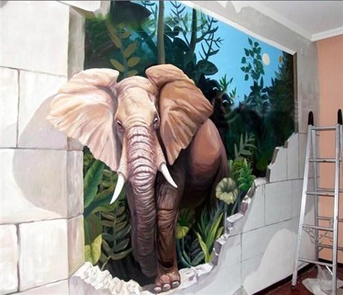 嘉定区外墙艺术墙绘价格,艺术墙绘