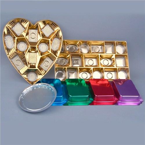 吸塑饼干礼盒托盘  巧克力吸塑包装托盘 镀金吸塑托盘