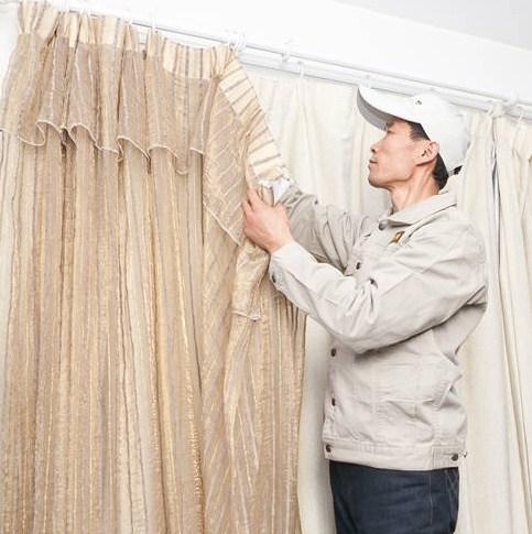 洛阳知名窗帘清洗上门服务,窗帘清洗