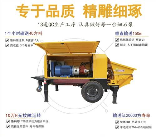 上海二次小型混凝土泵租赁 和谐共赢 南京鲁科重工机械供应
